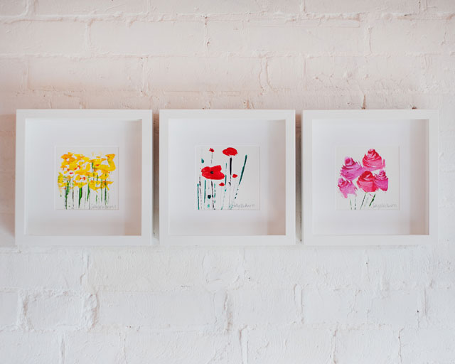 3 Florals in Frames by Sally Mackness
