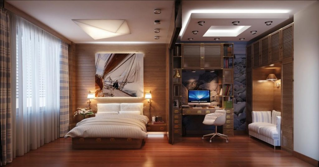 interesting workspace ideas in bedroom