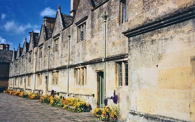 Chipping Campden's row of almshouses