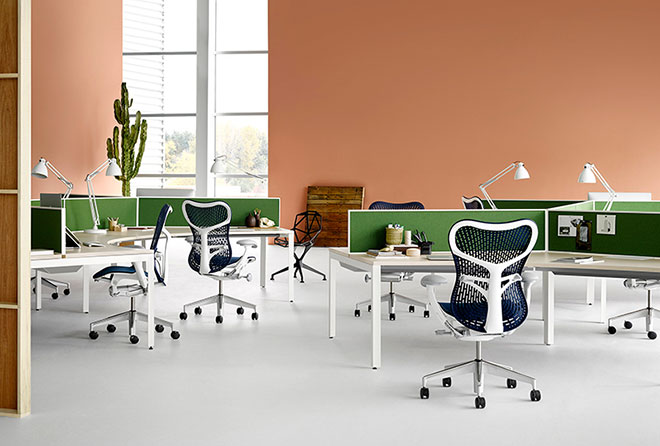 Office shot of Mirra 2 chairs