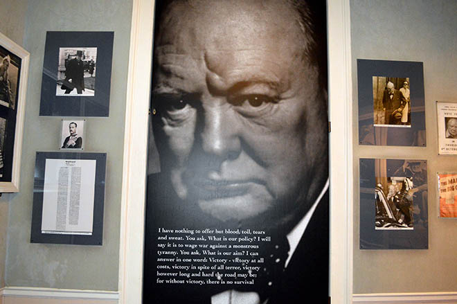 Sir Winston Churchill at Blenheim Palace