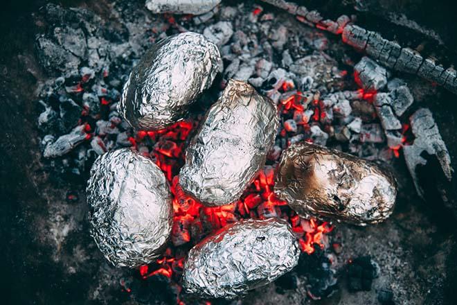 Baked Potatoes on bonfire night
