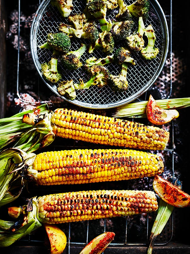 Flame Grilled Sweetcorn